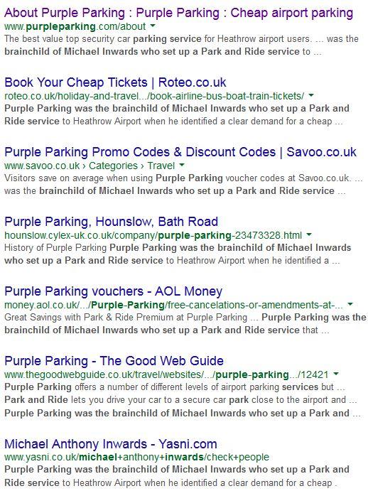 purple parking duplicate content