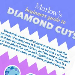 Diamond Cuts Infographic for Marlow's Diamonds