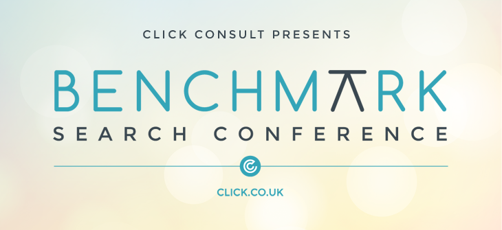 Click Consults benchmark Search Conference header image