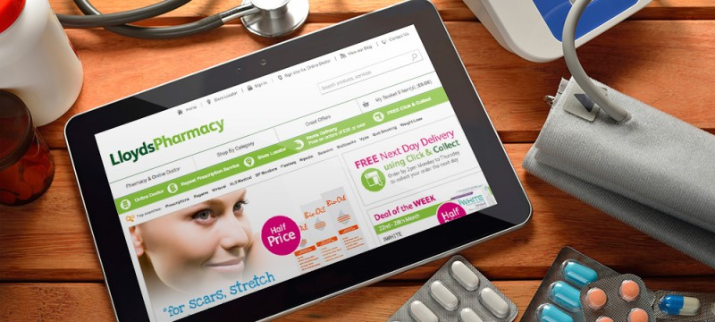 Lloyds Pharmacy Online campaign image